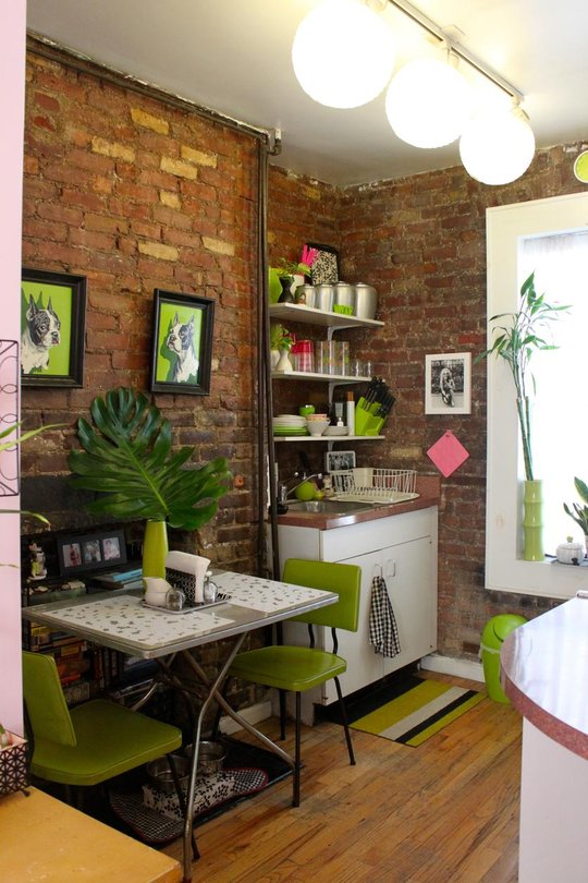 Best Tiny Apartment In New York With Exposed Brick Walls This Month