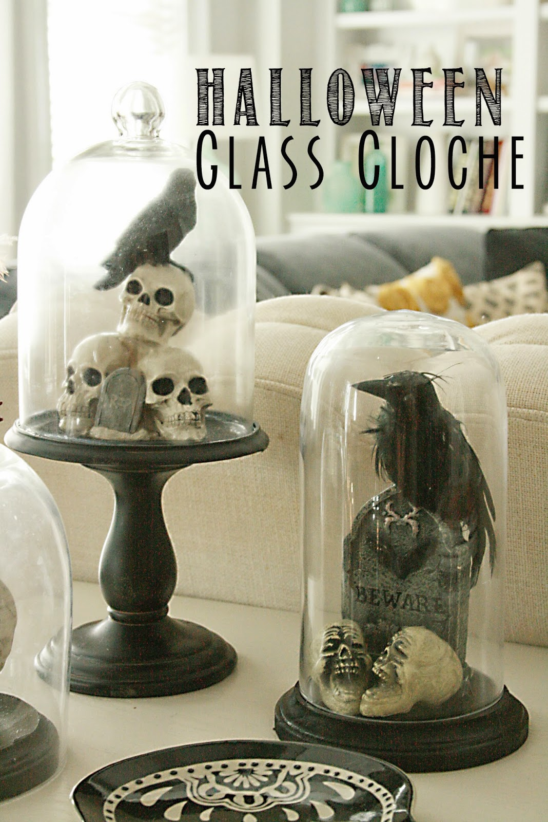 Best Diy Halloween Glass Cloche Darling Darleen A This Month