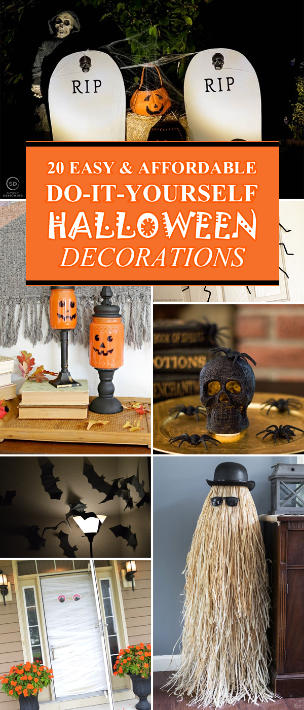 Best 20 Super Easy Affordable Diy Halloween Decorations This Month