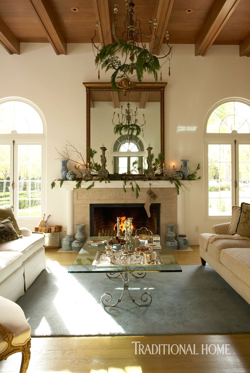 Best Christmas In A Spanish Mission Style Home Traditional Home This Month