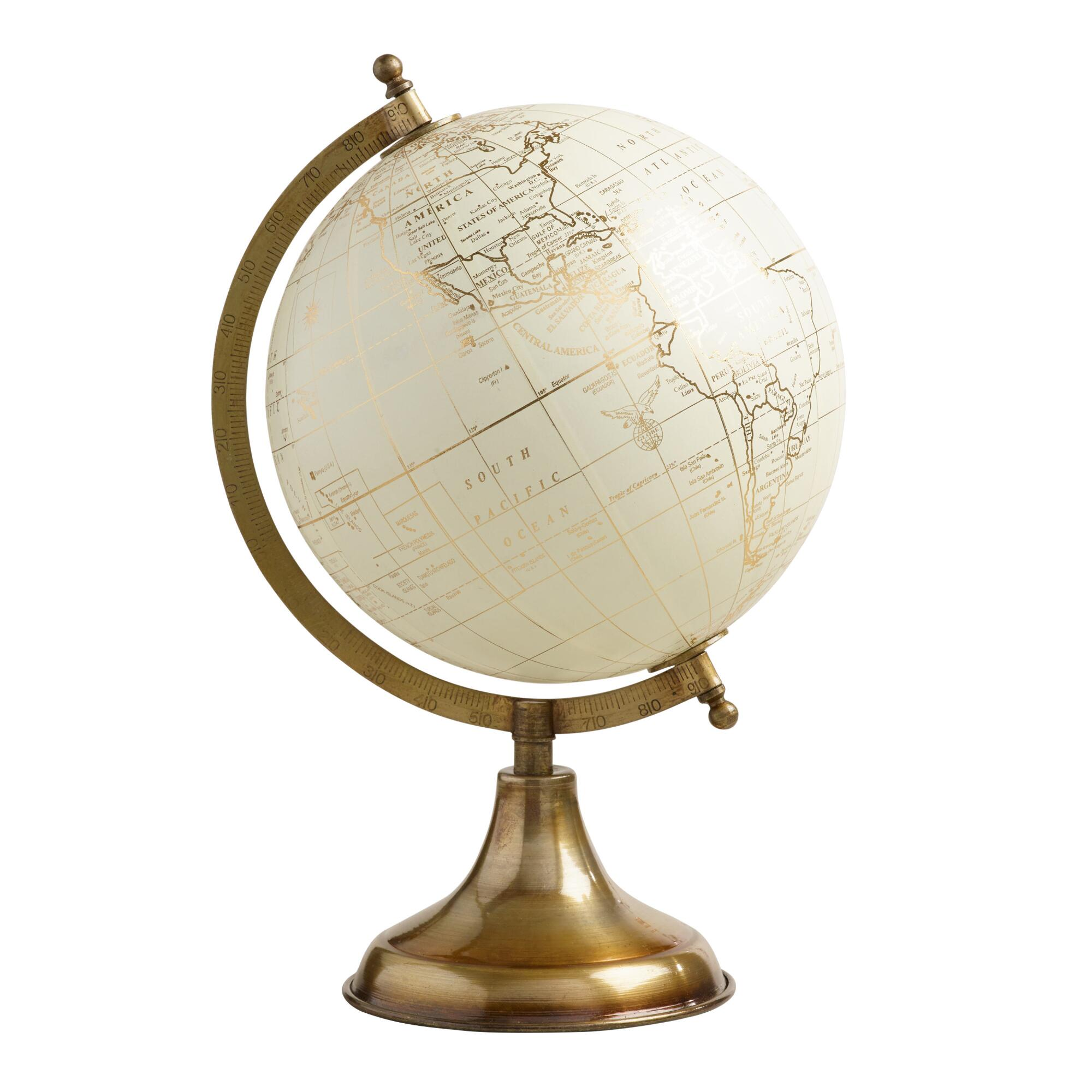 Best White Globe On Gold Stand World Market This Month
