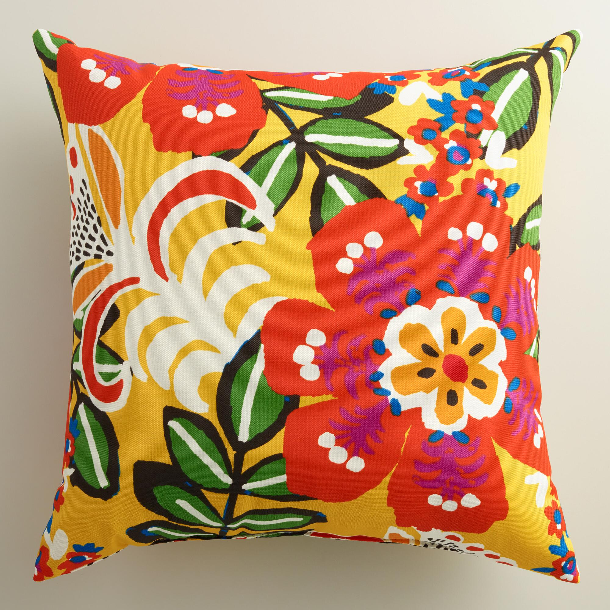 Best Caribbean Floral Outdoor Throw Pillow World Market This Month