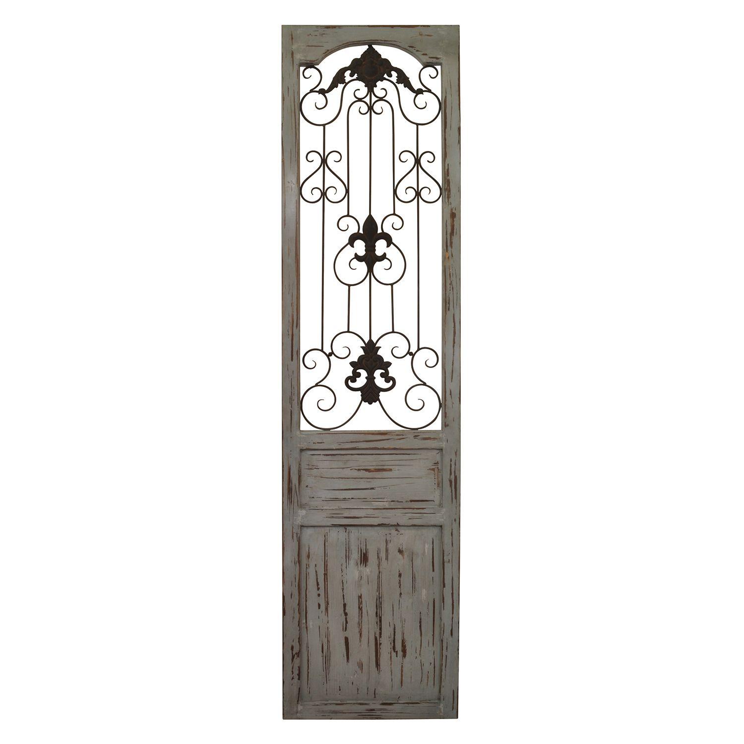 Best Belle Maison Distressed Scroll Gate Wall Decor This Month