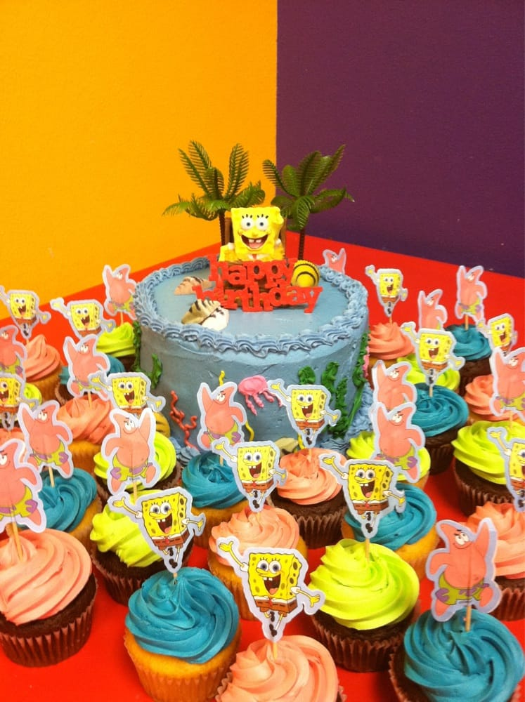 Best Got Sponge Bob Candle Cupcake Toppers Palm Trees Sugar This Month