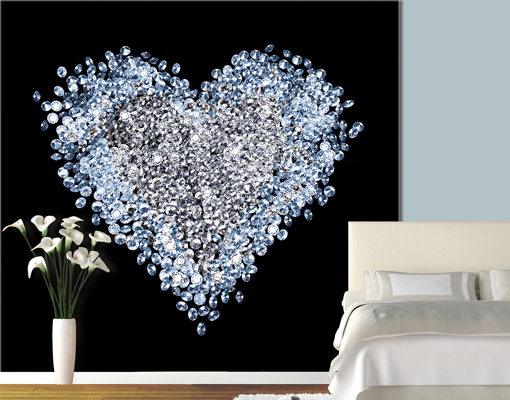 Best Photo Wall Mural Heart Of Diamond 300X280 Wallpaper Wall This Month