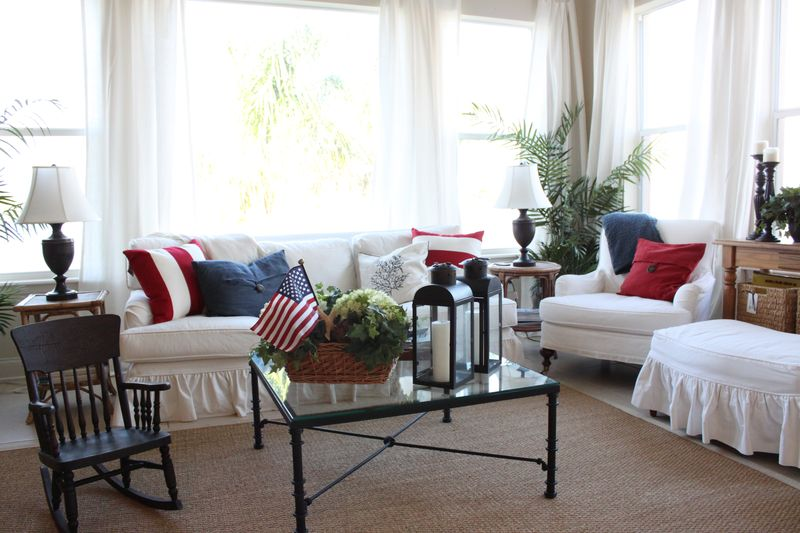 Best Red White And Blue Decor Cottage Updates Starfish Cottage This Month