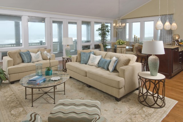 Best Beach House Living Room Traditional Living Room This Month