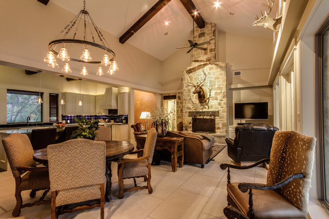 Best Texas Hill Country Man Space Traditional Dining Room This Month