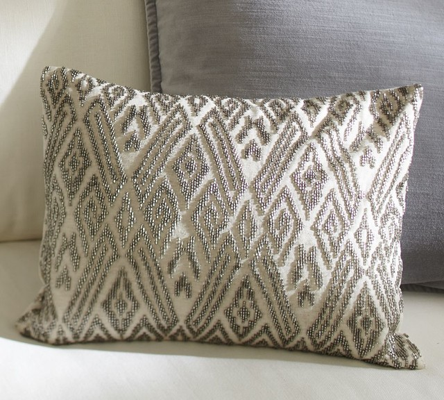 Best Maddie Beaded Lumbar Pillow Cover Traditional This Month