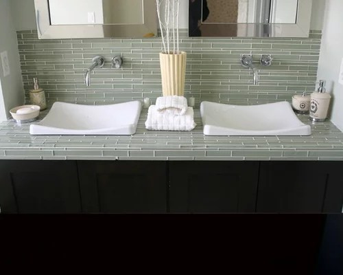 Best Glass Tile Counter Home Design Ideas Pictures Remodel This Month
