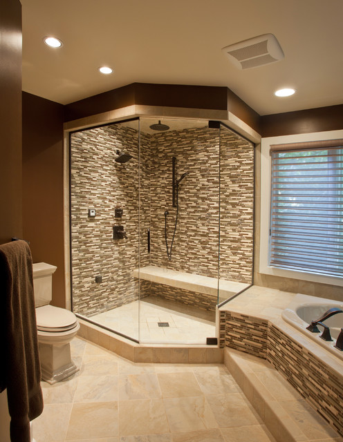 Best Ceramic Glass Tile Shower Contemporary Bathroom This Month