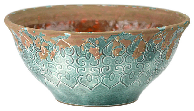 Best Blue Ceramic Bowl Transitional Decorative Bowls By This Month