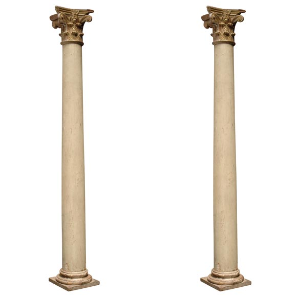 Best Pair Of Important Italian Decorative Wood Columns At 1Stdibs This Month