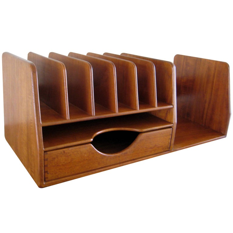 Best A Hans Wegner Danish Teak Wood Desk Organizer C 1960 S At This Month