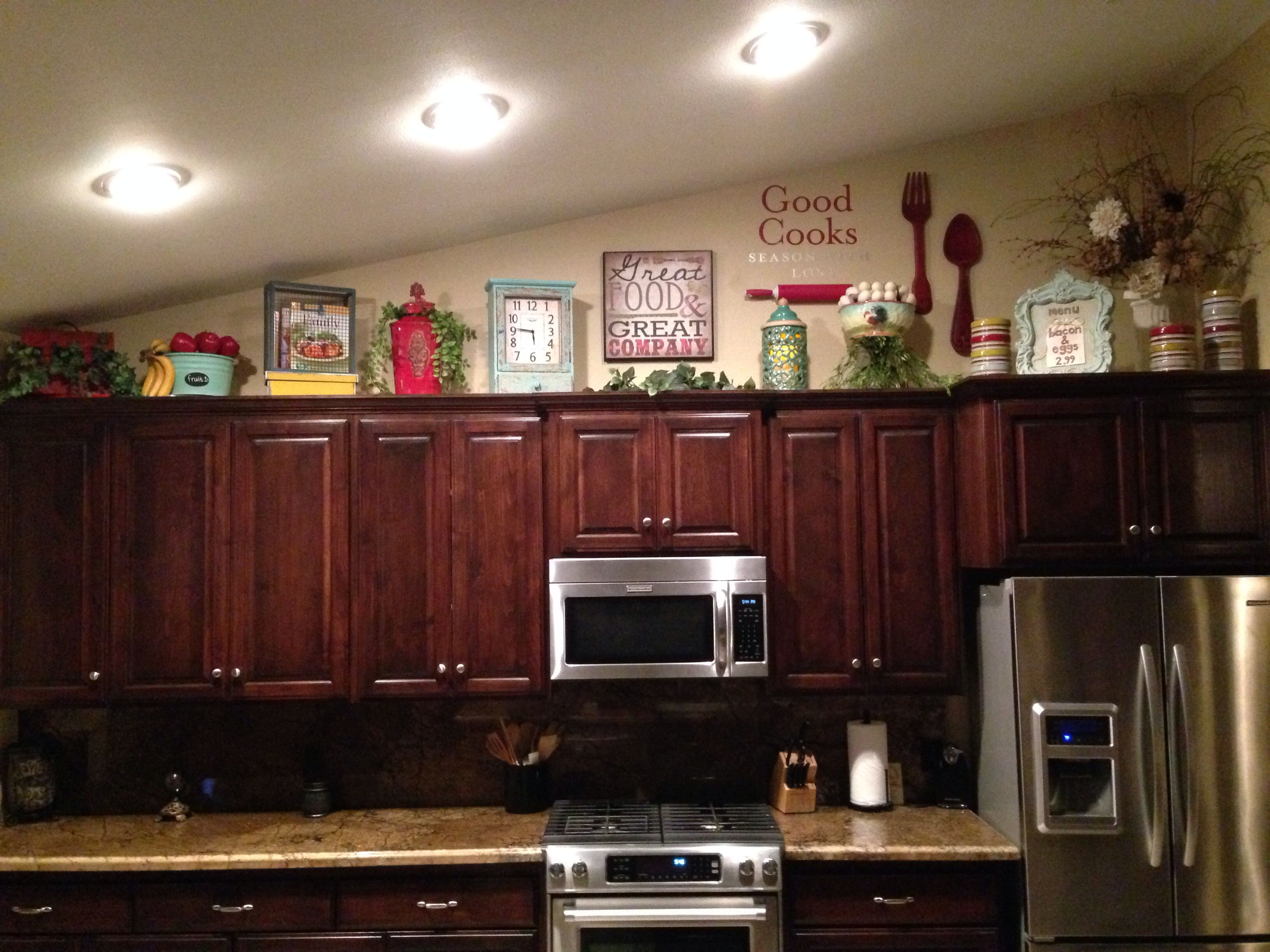 Best Above Kitchen Cabinet Decor Home Sweet Home Pinterest This Month