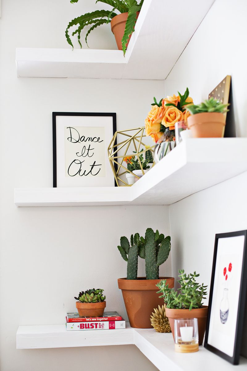 Best Diy Floating Corner Shelves – A Beautiful Mess This Month