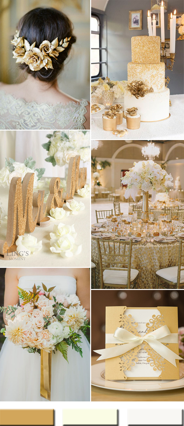 Best 2017 The Best Gold Wedding Colors Combos Trends – Stylish This Month