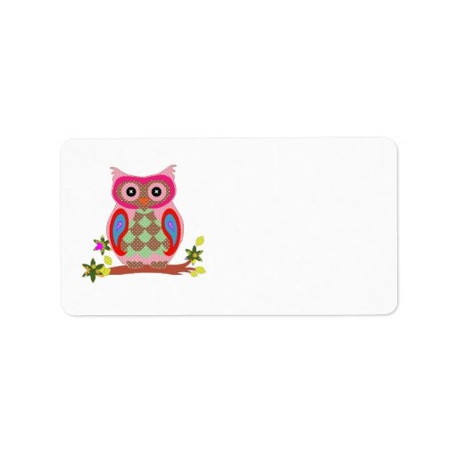 Best Owl Colorful Decorative Blank Custom Address Label Zazzle This Month