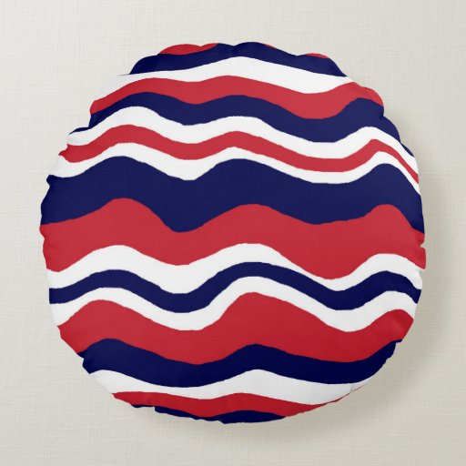 Best Throw Pillow Red Blue White Round Zazzle This Month