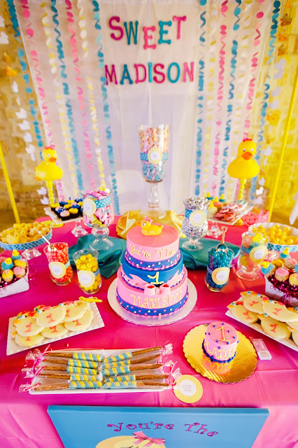 Best The Party Wall Rubber Ducky Inspired First Birthday Party This Month