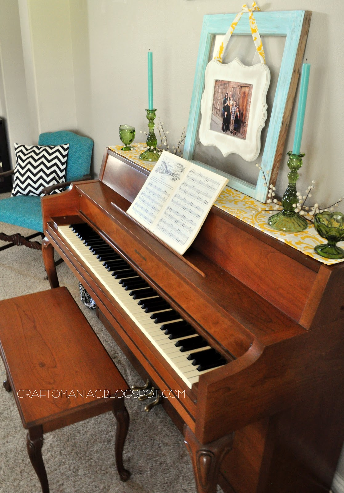 Best Home Decor With A Simple Diy Piano Top Runner Craft O Maniac This Month