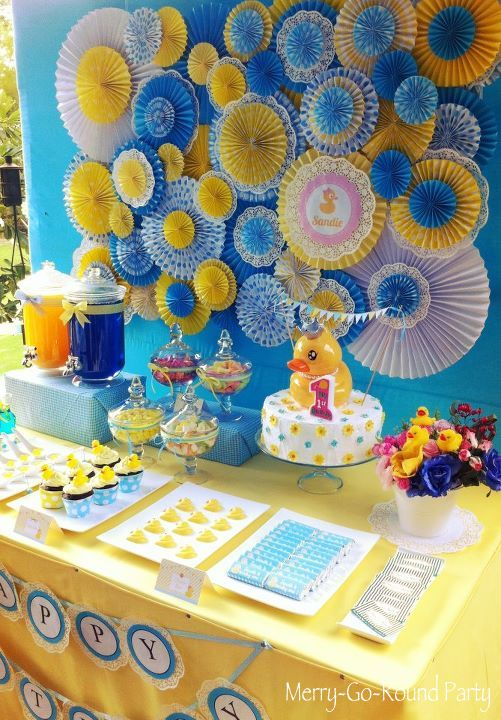 Best Merry Go Round Rubber Duckie Themed Party This Month