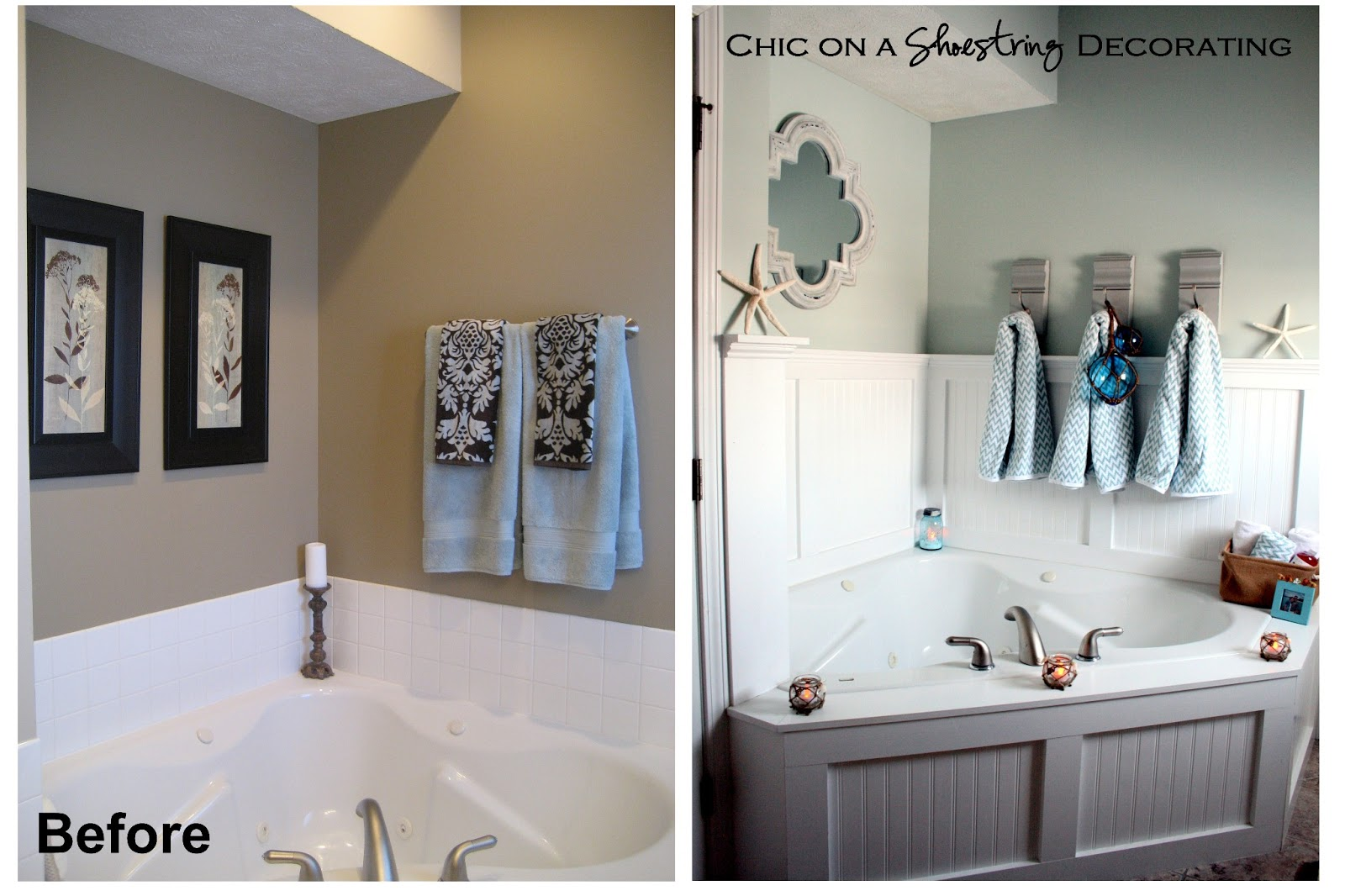 Best Chic On A Shoestring Decorating Beachy Bathroom Reveal This Month