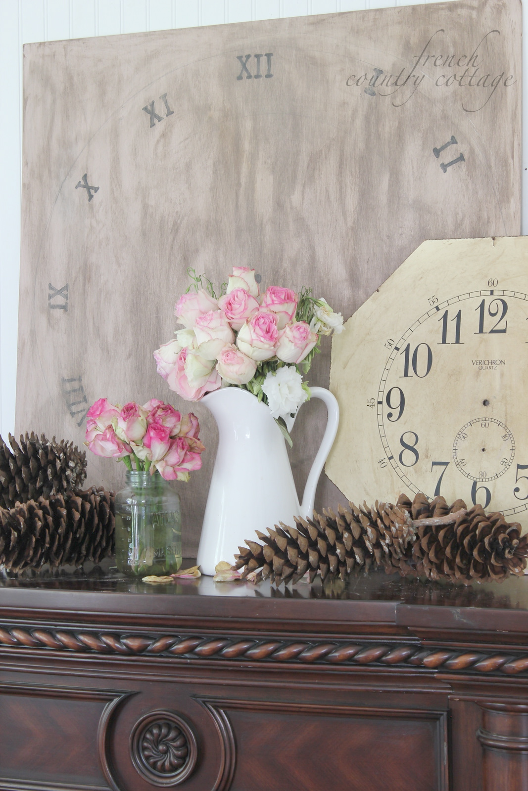 Best Diy Clock Face Decor French Country Cottage This Month