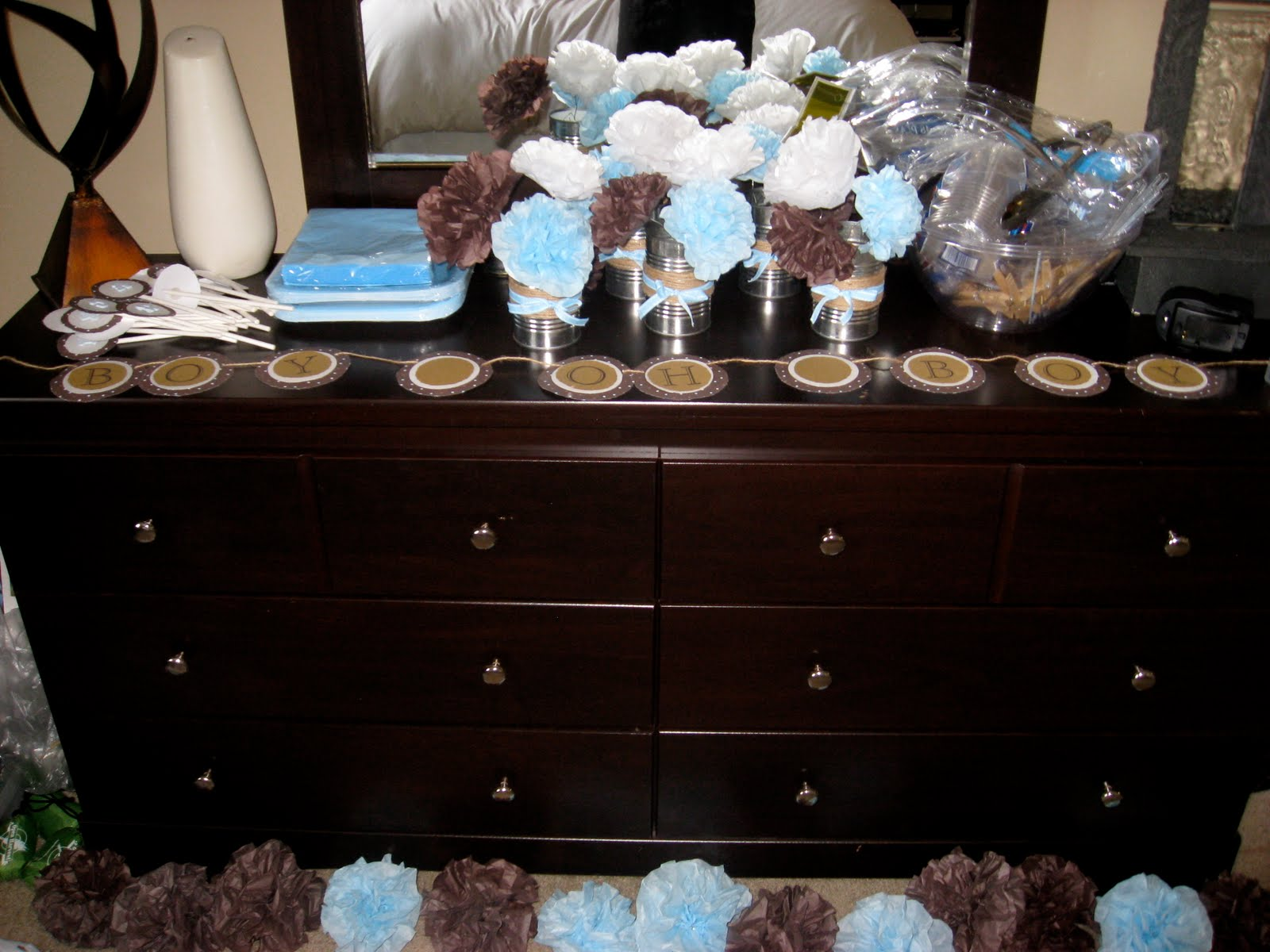 Best Brown And Blue Baby Shower Decorations Best Baby Decoration This Month