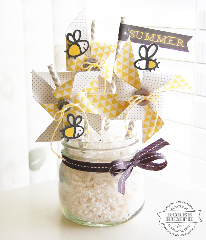 Best Summer Pinwheel Home Décor Stamp Scrapbook Expo This Month