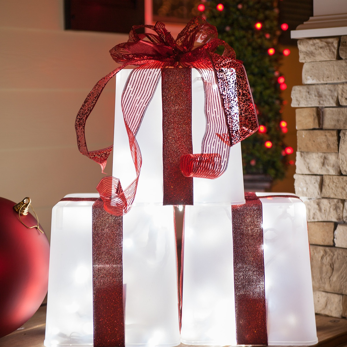 Best Diy Christmas Decorations 4 Lighted Gift Boxes This Month