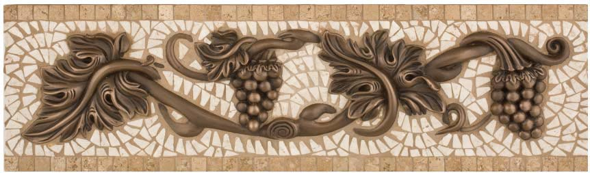 Best Metal And Stone Grand Venito Grape Border 23 X 6 50 This Month