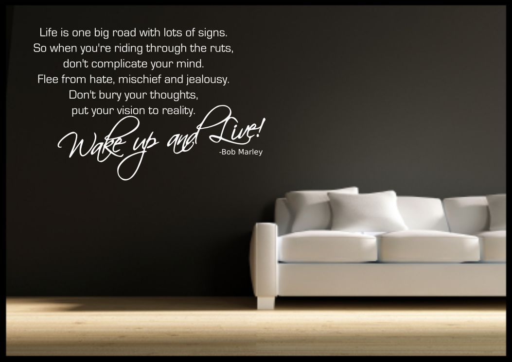 Best Bob Marley Quote Wall Sticker Bedroom Room Decal Mural This Month