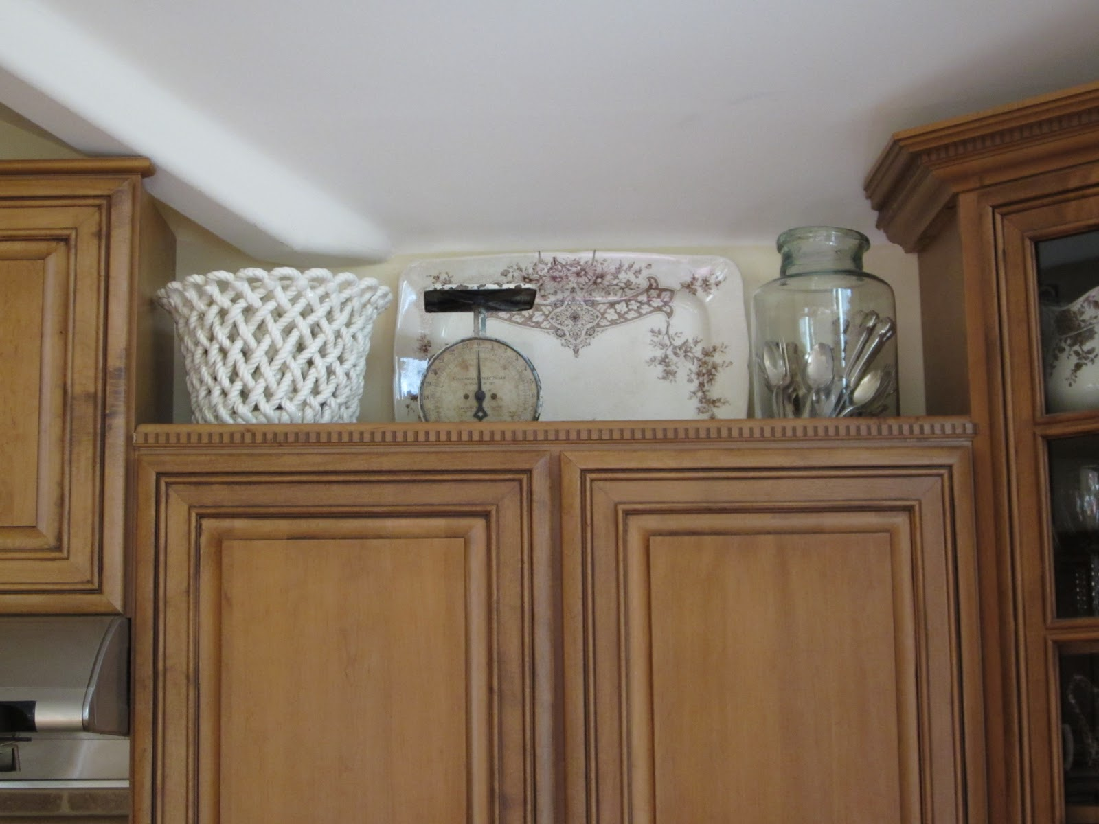 Best Antiquechase Decorating Above Kitchen Cabinets Why Is This Month