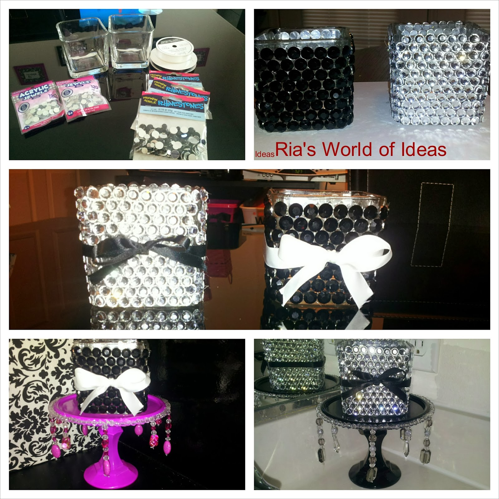 Best Ria S World Of Ideas Diy Bling Vases This Month