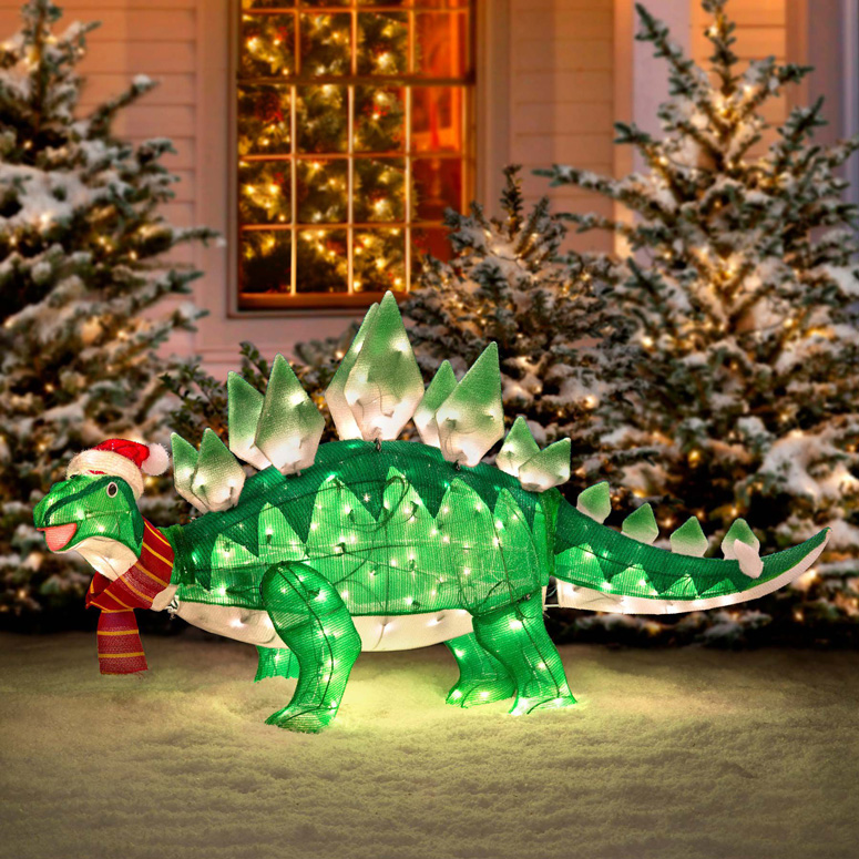 Best Animated Stegasaurus Dinosaur Christmas Decoration The This Month