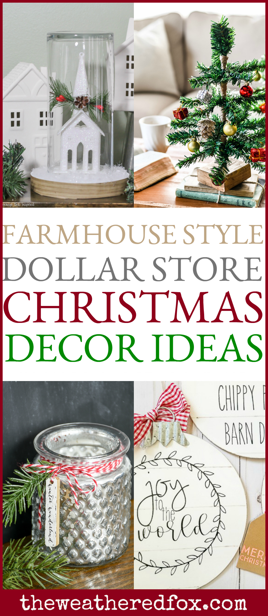 Best Dollar Store Christmas Decor Ideas The Weathered Fox This Month