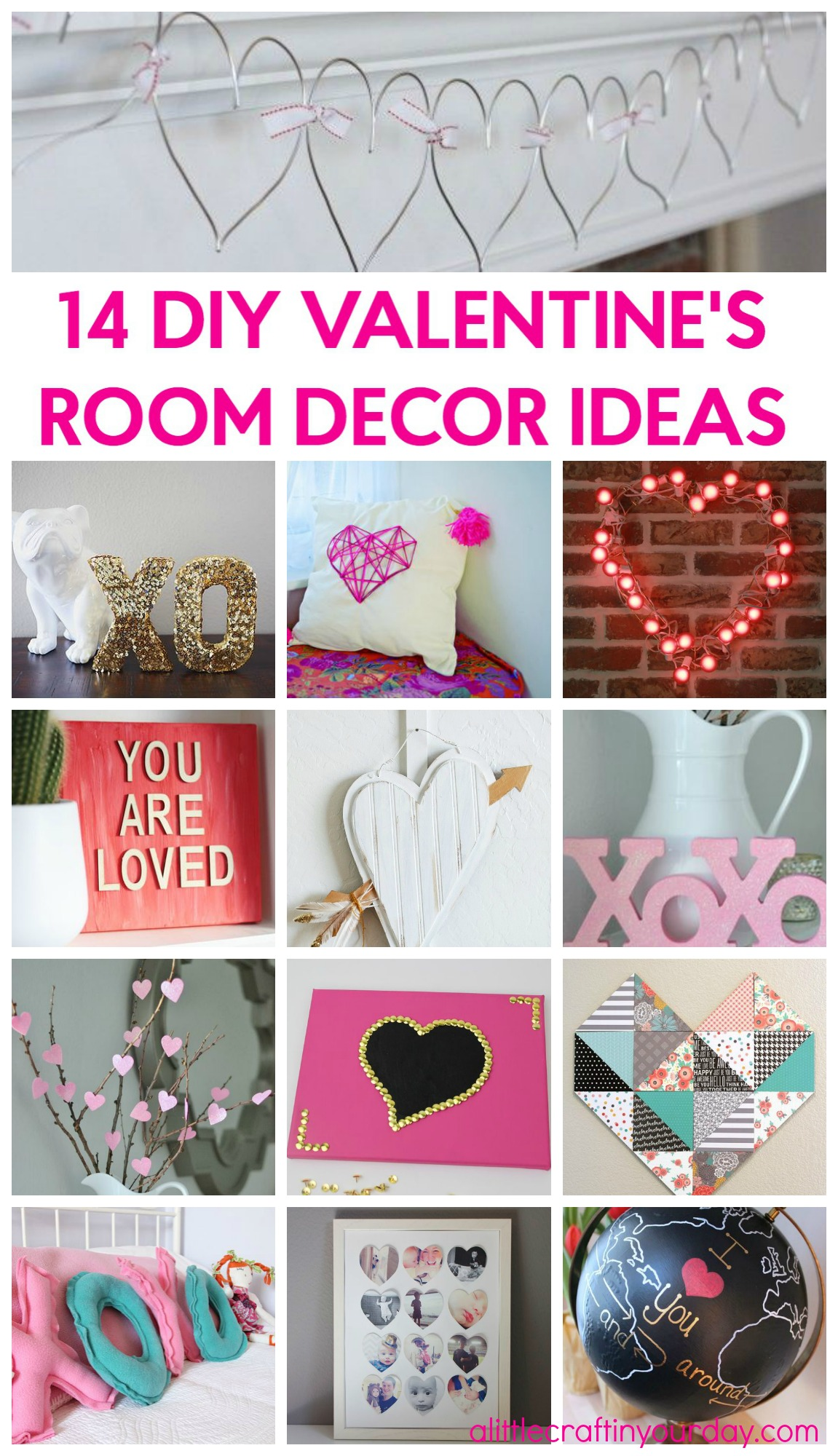 Best 14 Valentine S Room Decor Ideas A Little Craft In Your Day This Month