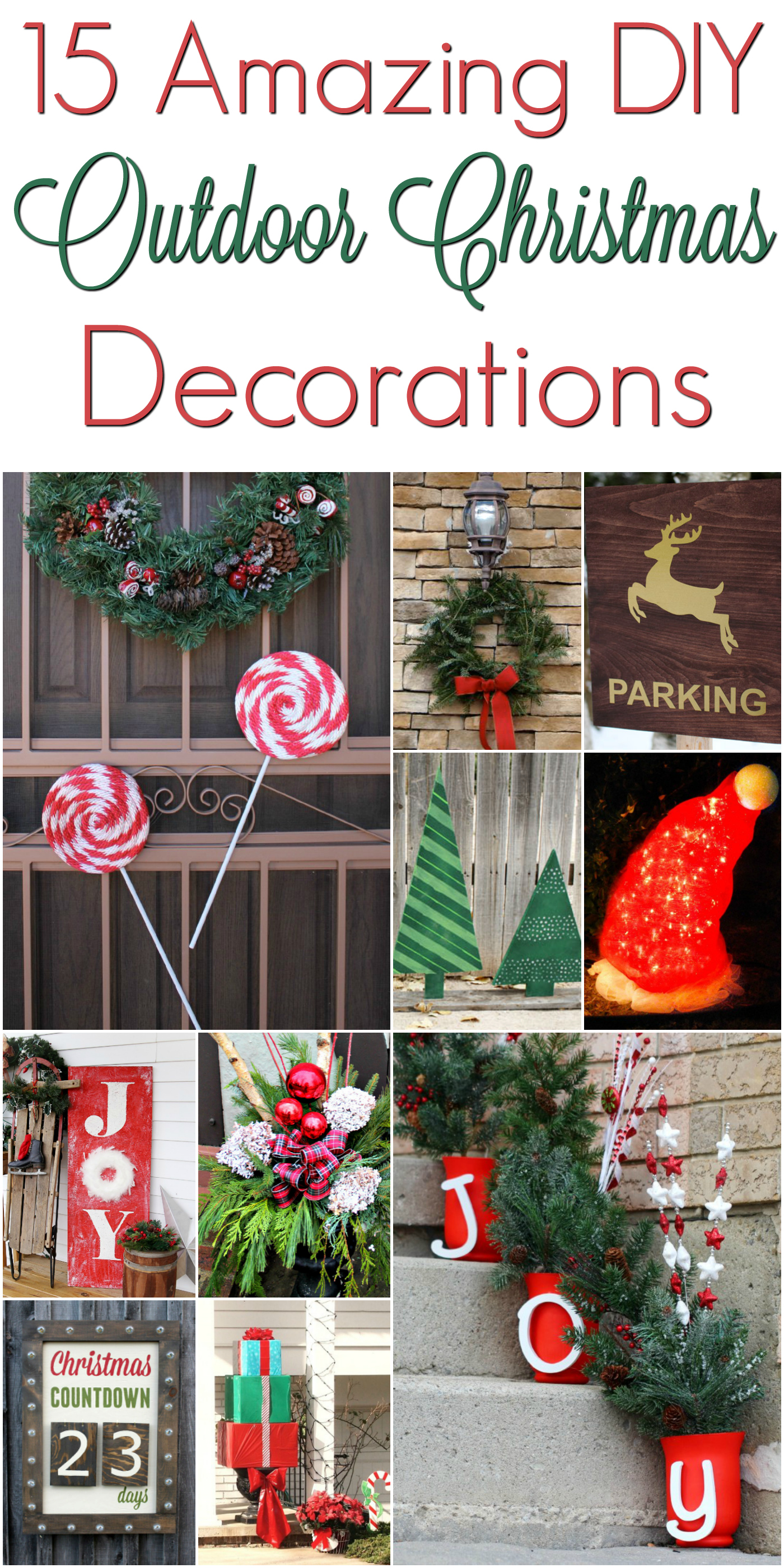 Best Diy Christmas Outdoor Decorations Christmasdecorations This Month