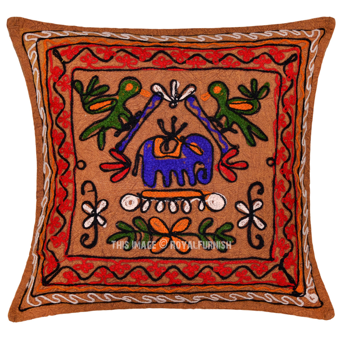 Best Vintage Indian Embroidered Animal Design Decorative Throw This Month