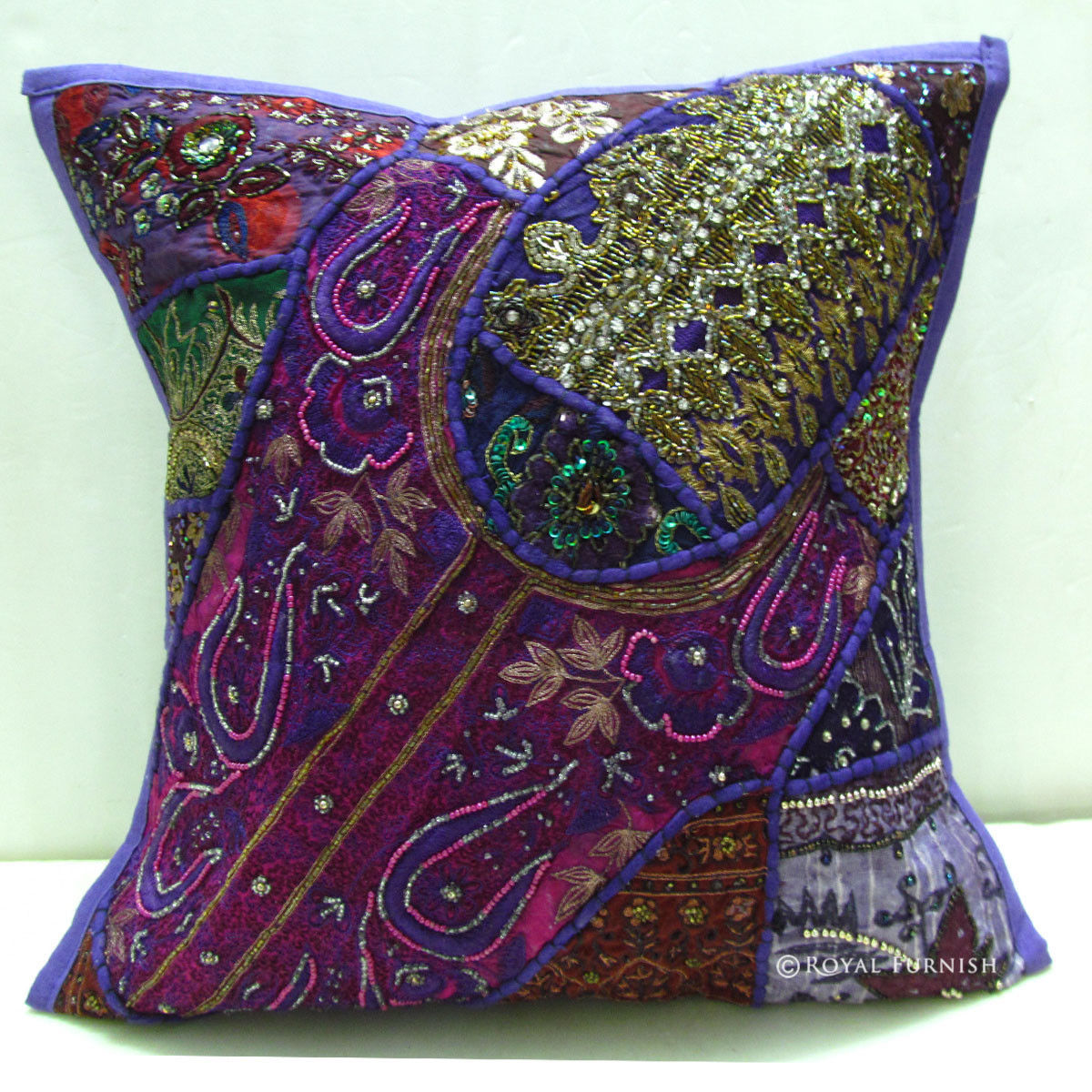 Best Decorative Vintage Handmade Beaded Embroidery Throw Pillow This Month