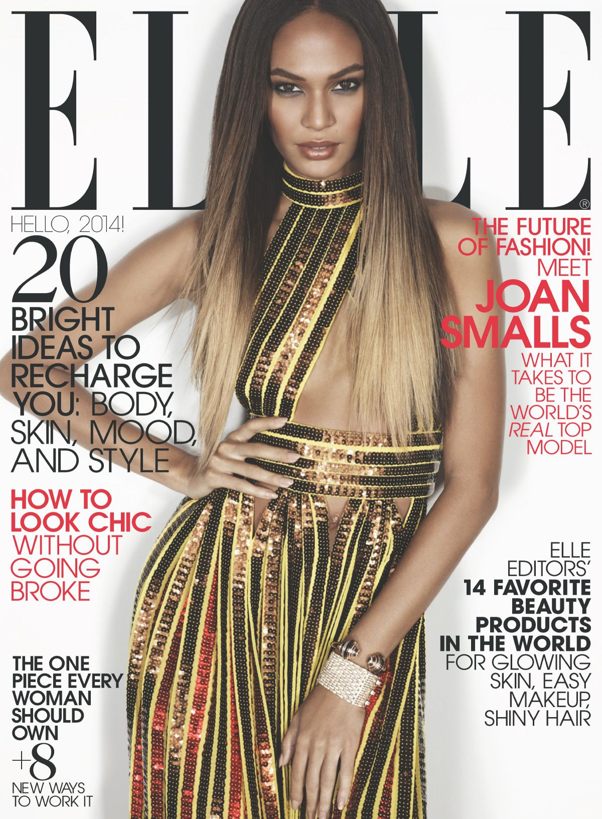 Best Joan Smalls For Elle Magazine January 2014 Girls Of T O This Month