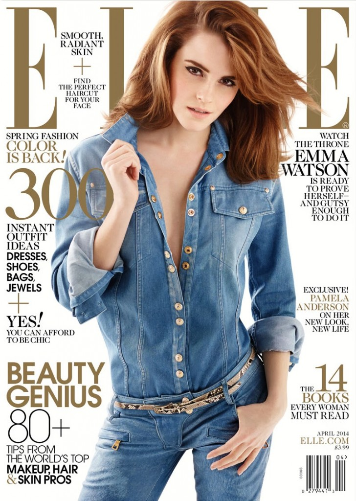 Best Emma Watson For Elle Magazine April 2014 Girls Of T O This Month