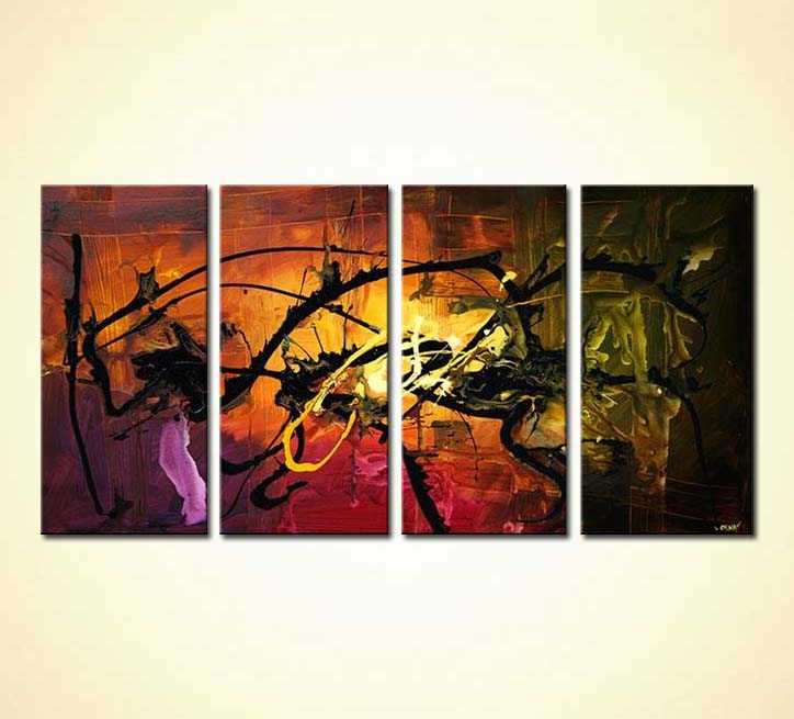 Best Buy Home Decor Abstract Painting Multi Panel 4717 This Month