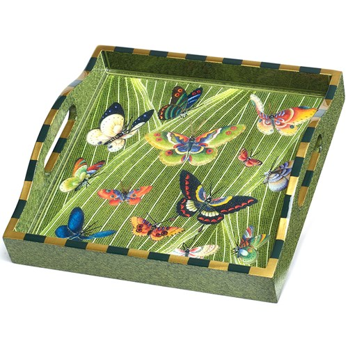 Best Butterfly Tray Painted Wooden Decoupage Trays Home This Month