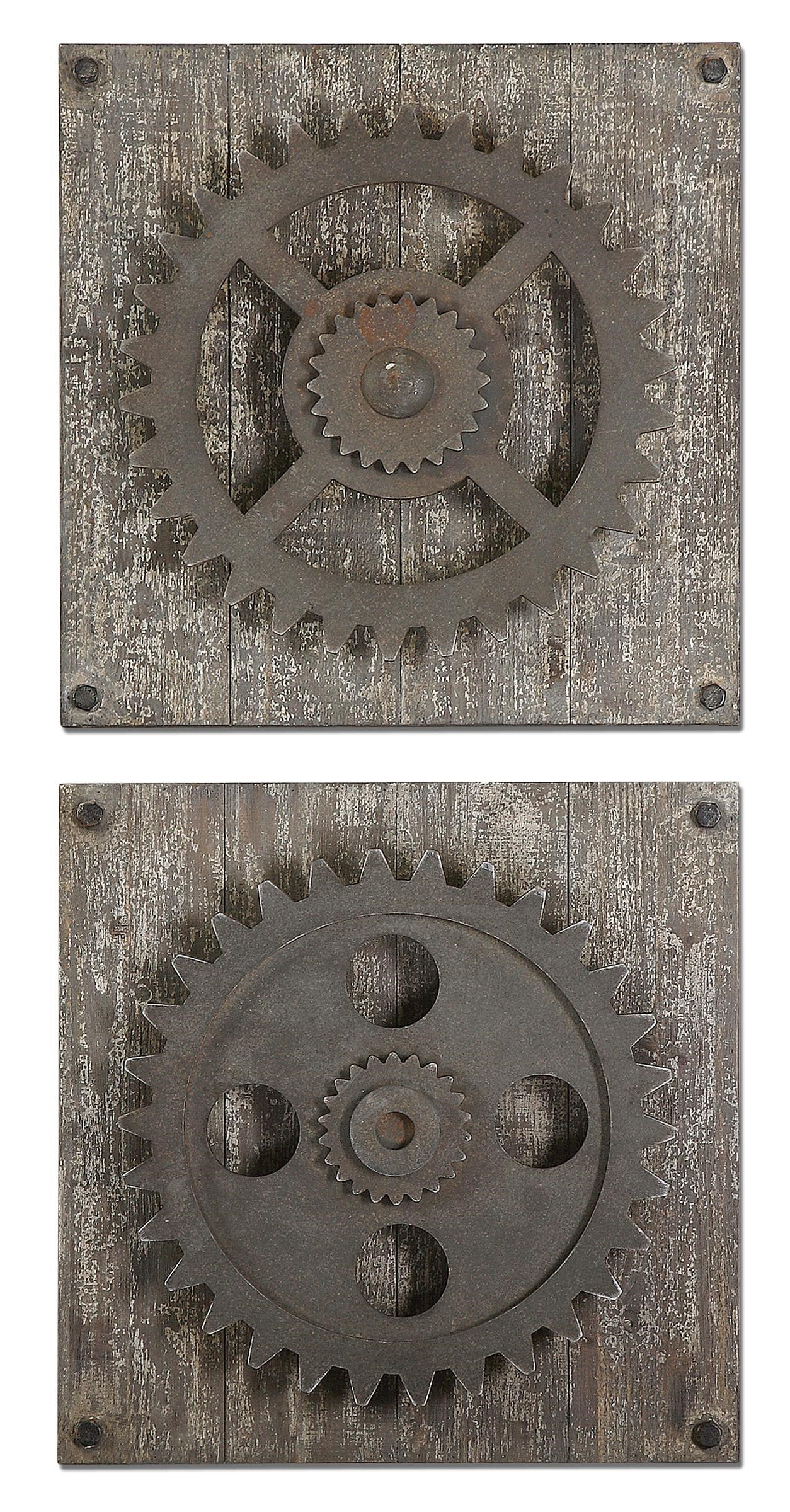 Best Uttermost Alternative Wall Decor Rustic Gears Adcock This Month