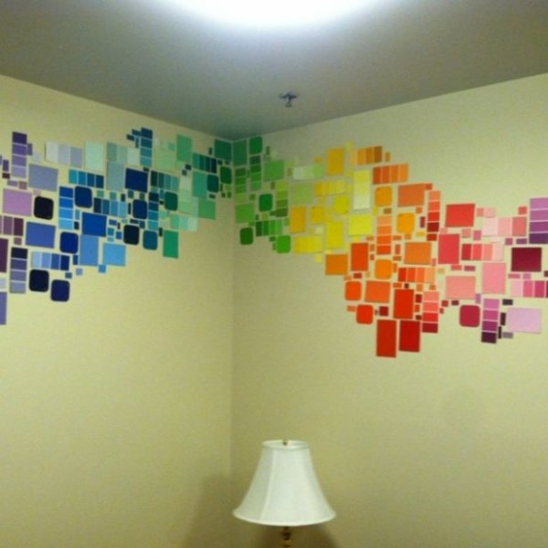 Best Diy Paint Chip Wall Art 34 Diy Dorm Room Decor Projects To… This Month