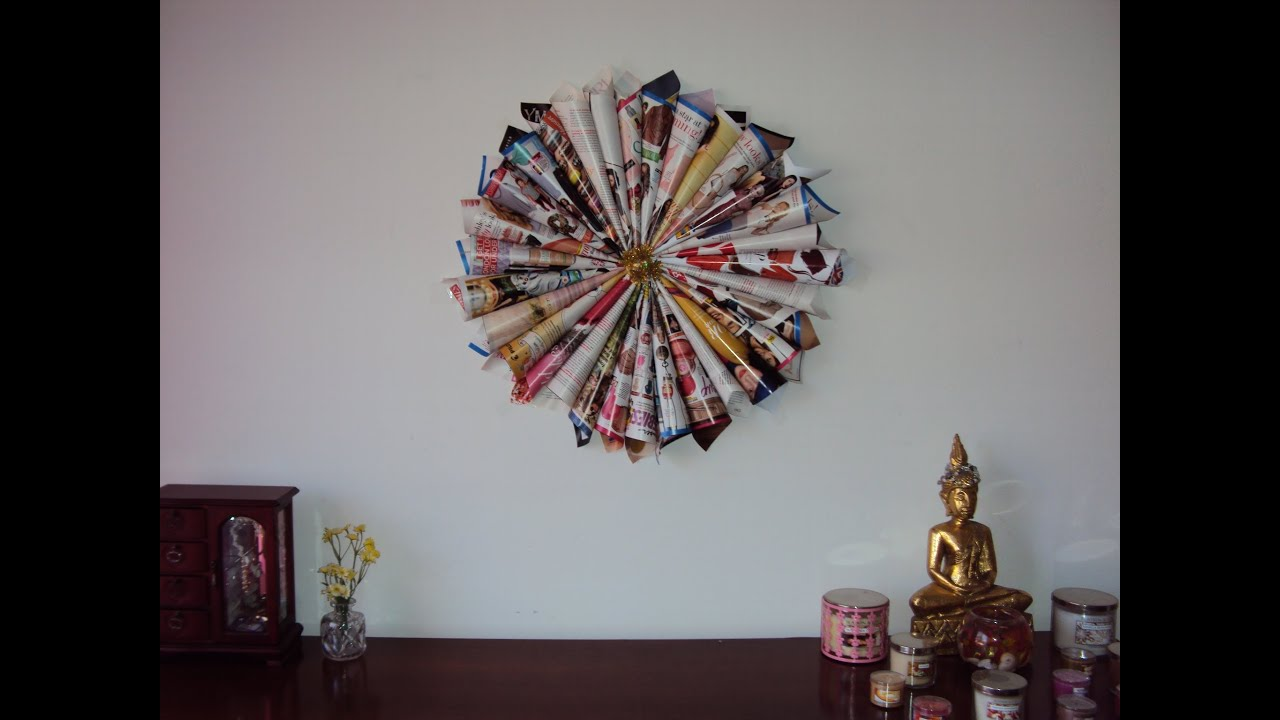 Best Diy Magazine Wall Decor Youtube This Month