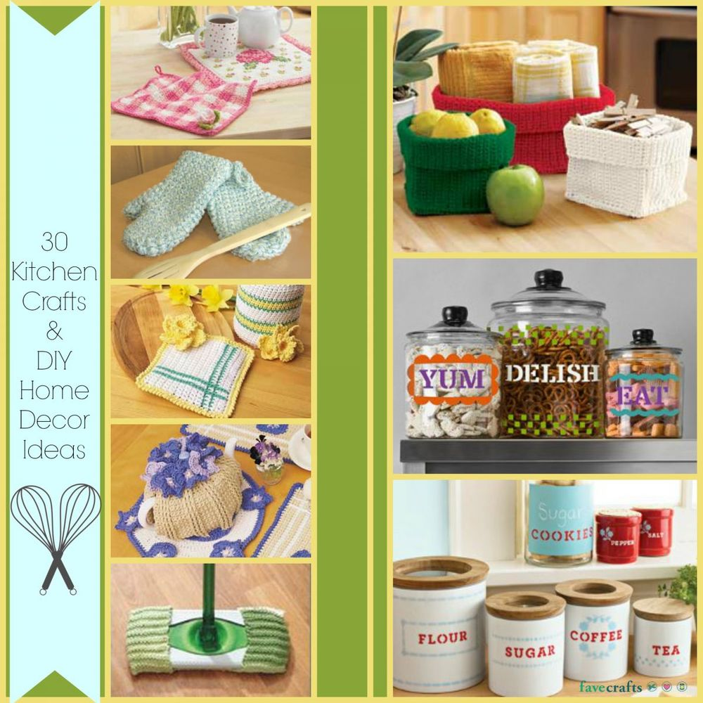 Best 30 Kitchen Crafts And Diy Home Decor Ideas Favecrafts Com This Month