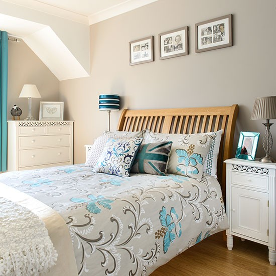 Best Taupe And Aqua Bedroom Decorating Housetohome Co Uk This Month
